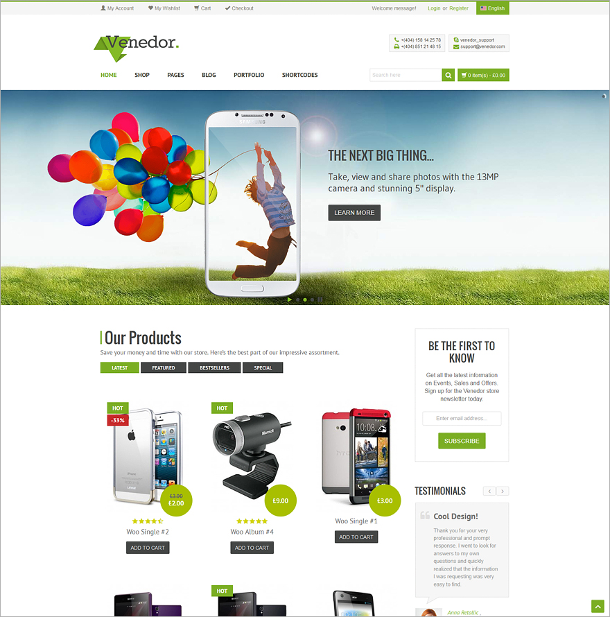 Venedor WordPress+WooCommerce Theme