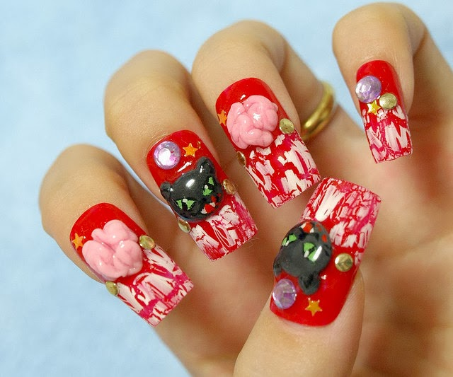 One hundred styles japanese nail art gallery a vancouver japanese nail art makes use of either a nail extension which is an acrylic nail chip or an artificial nail which you can glue on top of your prinsesfo Gallery