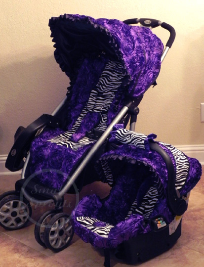Purple Zebra Print Infant Car Seat