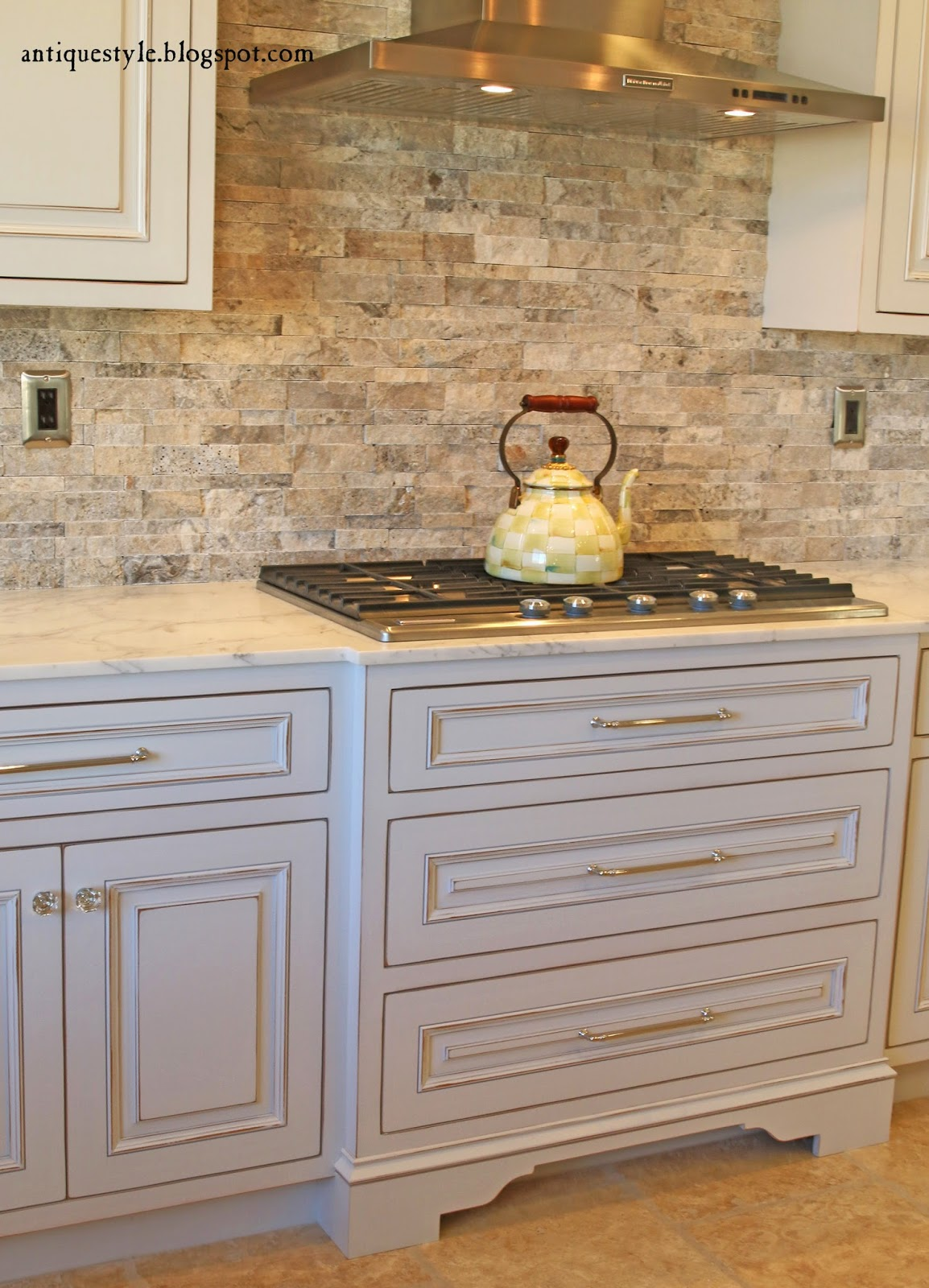 Kitchen Island Kick Plate antique style: kitchen before & after