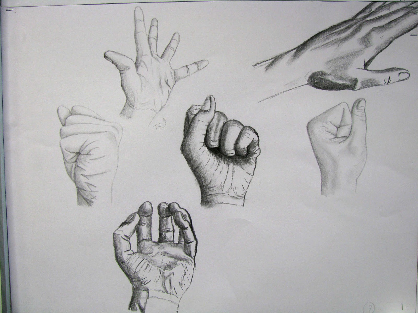 M naa caen croquis la main expressive - Dessin de la main ...