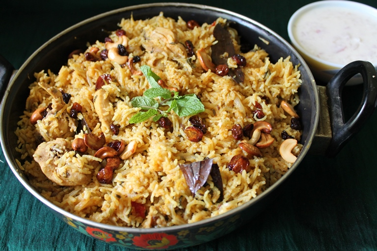 Pressure cooker chicken biryani one pot biryani ramzan for Chicken biryani at home
