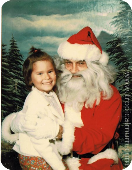 Tragic Santa Photo from Christmas 1976 - Evil Santa
