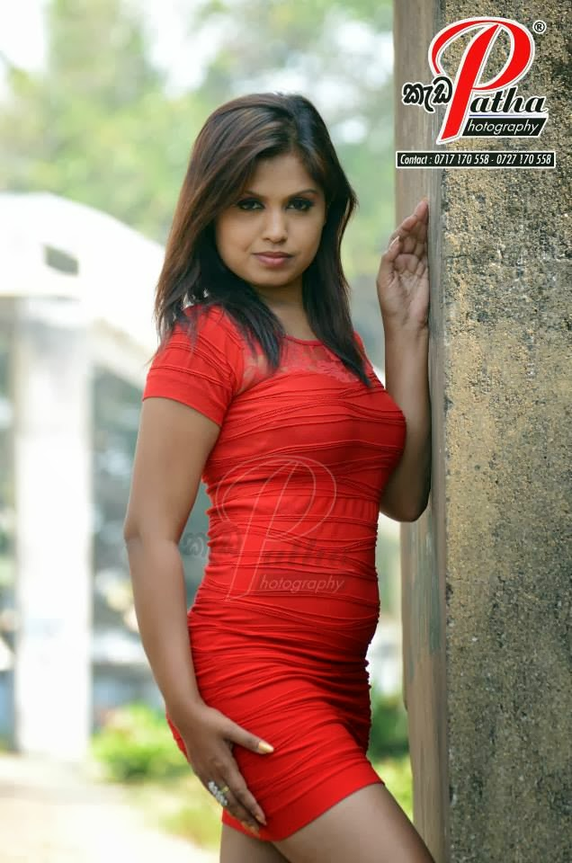 Tharu Arabewaththa red mini skirt