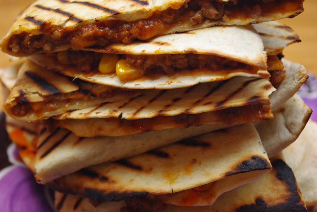 Chilli Beef Quesadillas