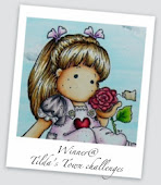 Sweet Pea Tilda in a book card