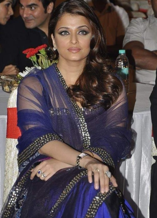 Aishwarya Rai Hot Transparent Saree in Big Star Awards