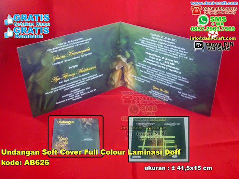 Undangan Soft Cover Full Colour Laminasi Doff