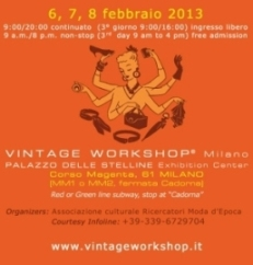 34th VINTAGE WORKSHOP Milan