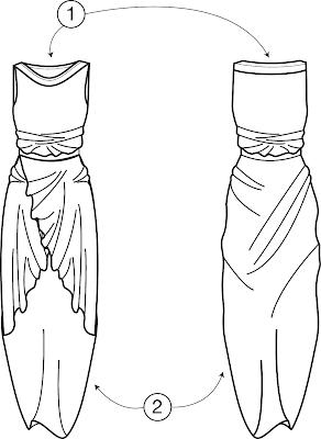 Vetor do Vestido Transpassado e Regata Ampla