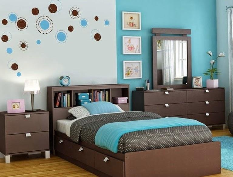 Cuartos para adolescentes en gris y turquesa dormitorios for Cuarto azul con gris