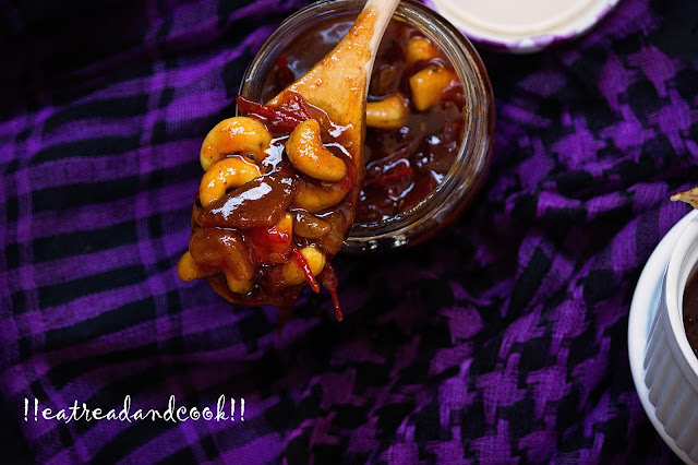 tomato khejur aamsotto kismiss chutney recipe bengali style
