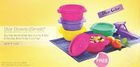 Tupperware 16 oz Star Bowls set of 4 +!