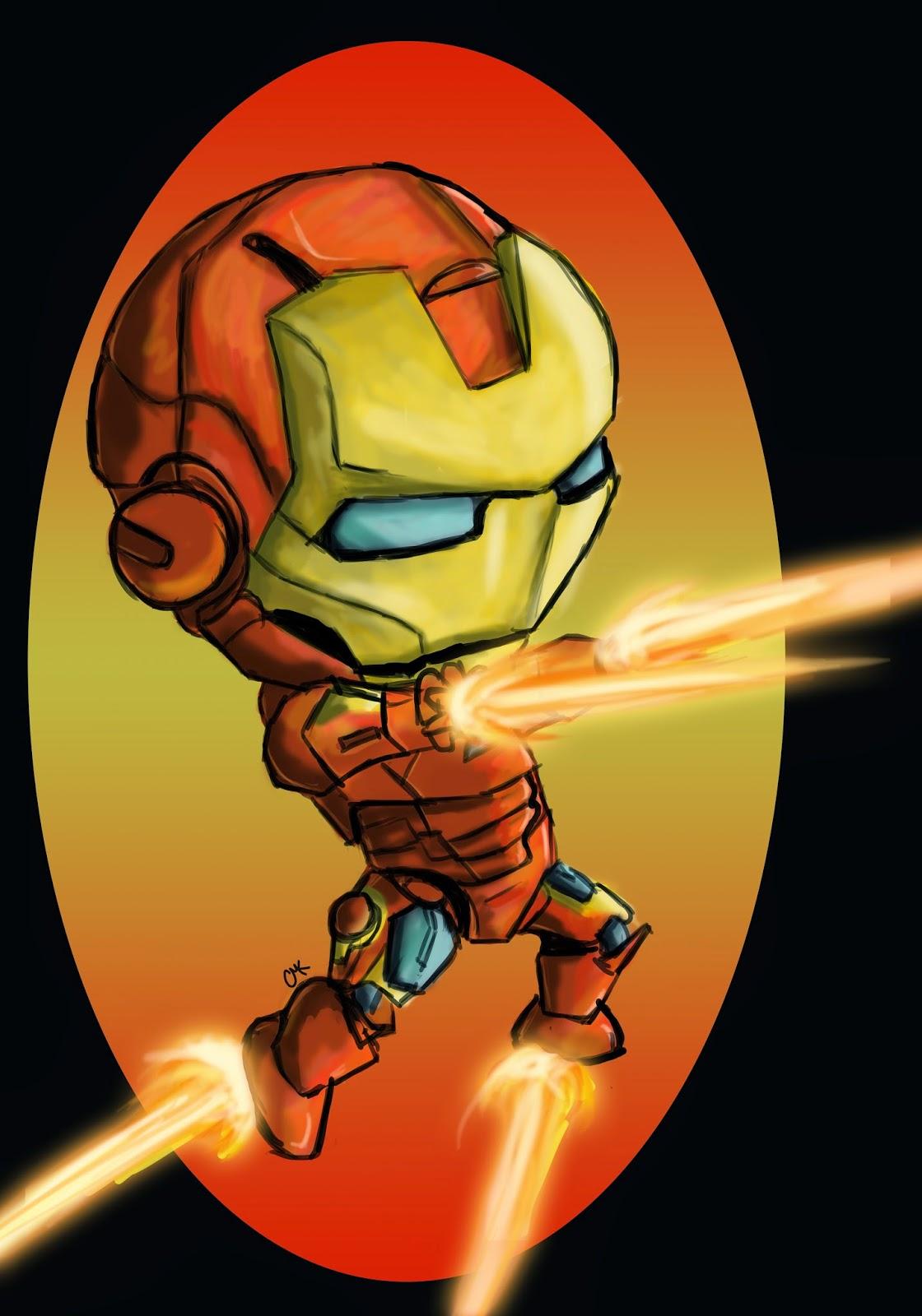chibi drawing of iron man