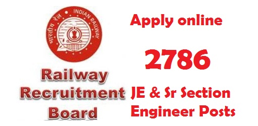 RRB Recruitment 2015 : JE SSE  2786 Posts
