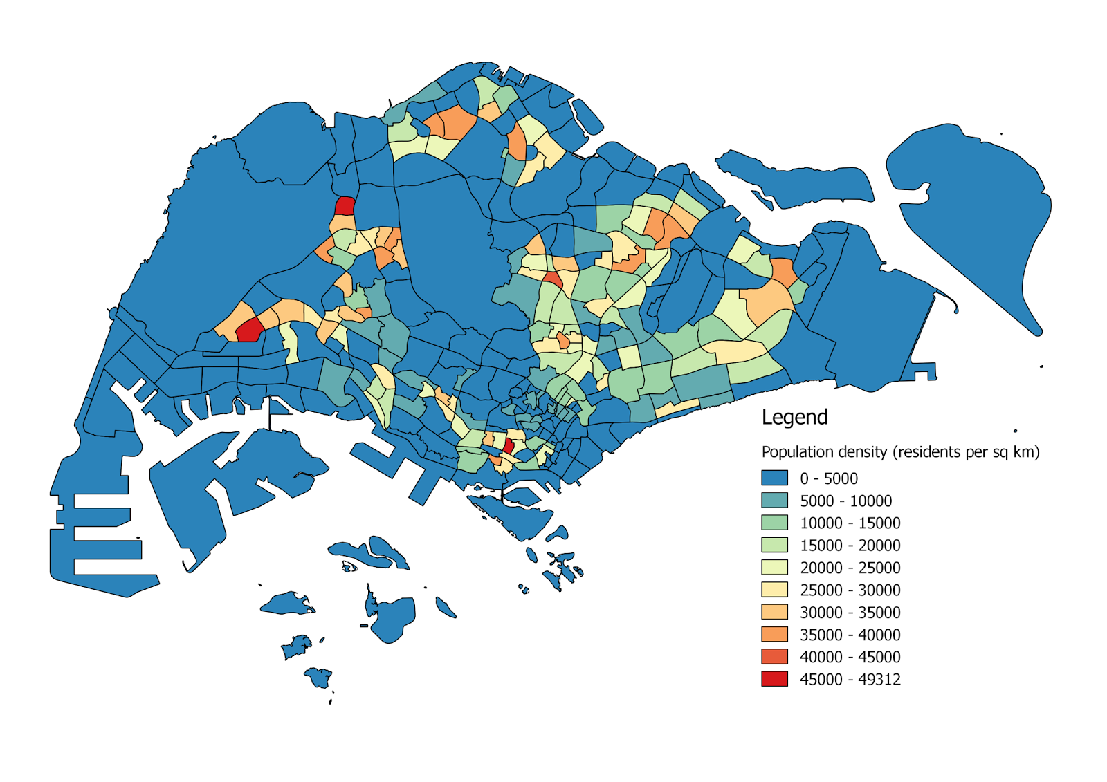 the densest places in singapore contd html us map by population density
