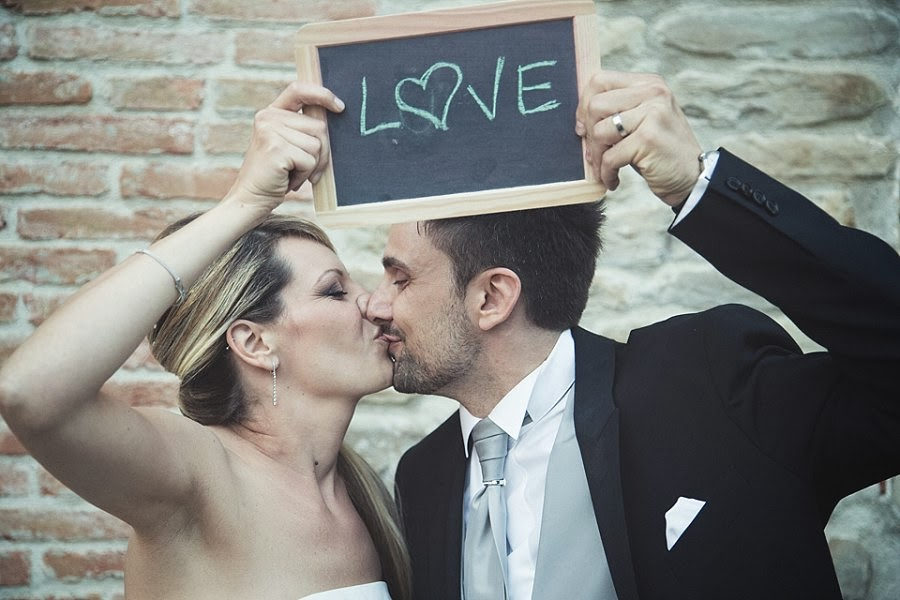 Photo booth matrimonio con lavagnette