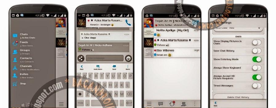 Download BBM+ Mod Thema Iphone apk versi new terbaru not clone