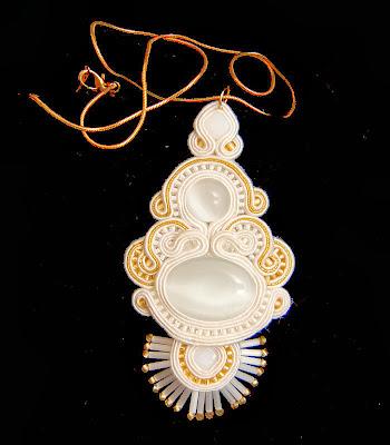 naszyjnik wisior sutasz soutache pendant necklace 37