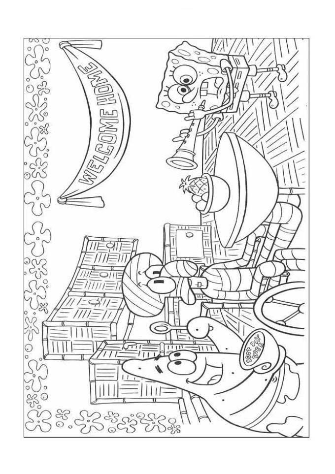 Desenho como desenhar As Aventuras De Bob Esponja pintar e colorir