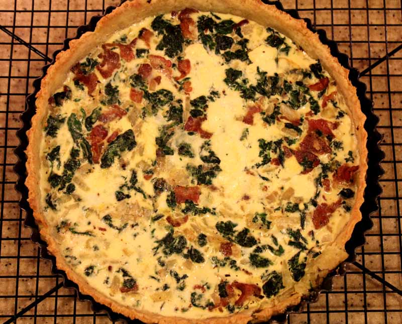 Spinach And Bacon Quiche Lake Lure Cottage Kitchenlake