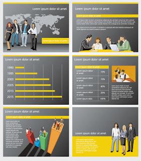 金融ビジネスを題材にした背景 Business and financial background イラスト素材