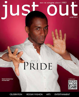 Cover of 'Just Out' June 2012 magazine