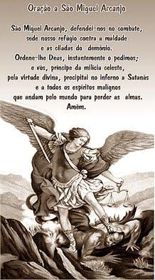 Protetor deste blog: São Miquel Arcanjo!