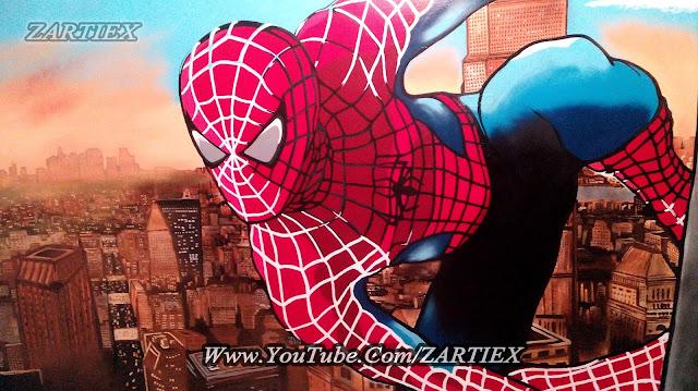 Cool graffiti Spiderman 3d graffiti ZARTIEX