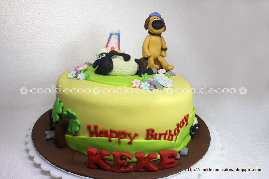 Cookiecoo Shaun The Sheep Cake For Keke