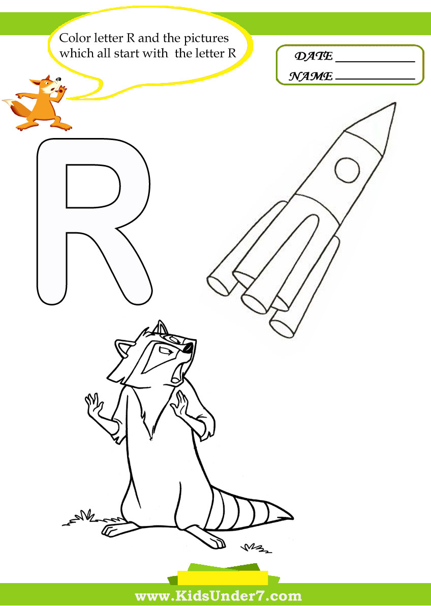 R coloring pages preschool - Letter Q Worksheets And Coloring Pages Letter S Worksheets And Coloring Pages