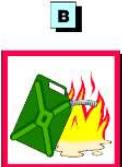 Elementos inflamáveis - gasolina, querosene, óleo, álcool, GLP