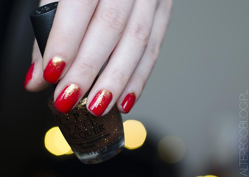 NOTD | Świąteczne paznokcie