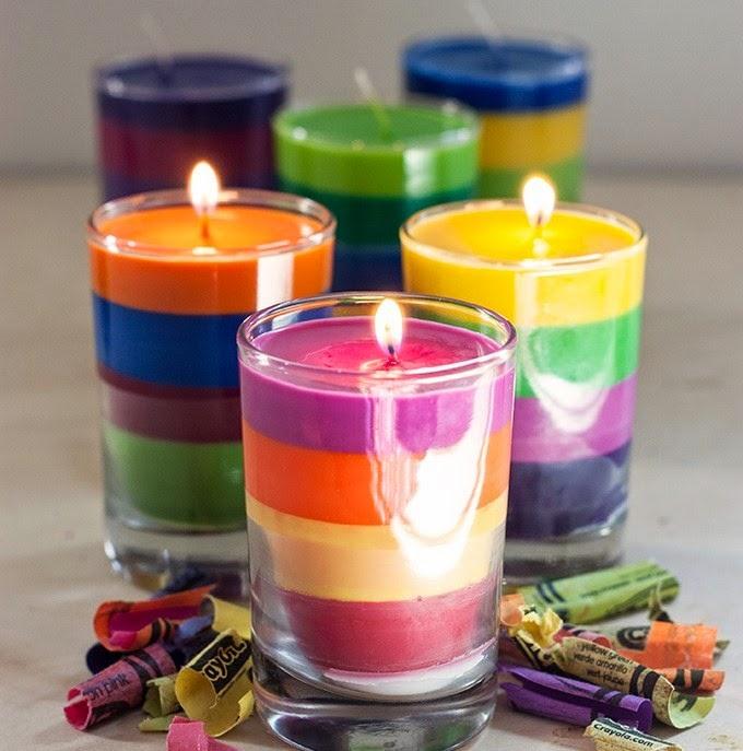 Espiritualidad y autoayuda como hacer velas arcoiris con for Como hacer velas aromaticas en casa