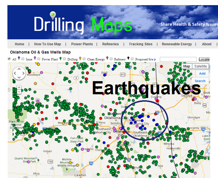 Drilling Maps Oklahoma Earthquakes From Fracking