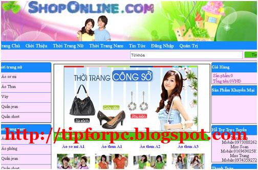 Đồ án tốt nghiệp Mã nguồn code Asp.Net Website bán quần áo trực tuyến + báo cáo