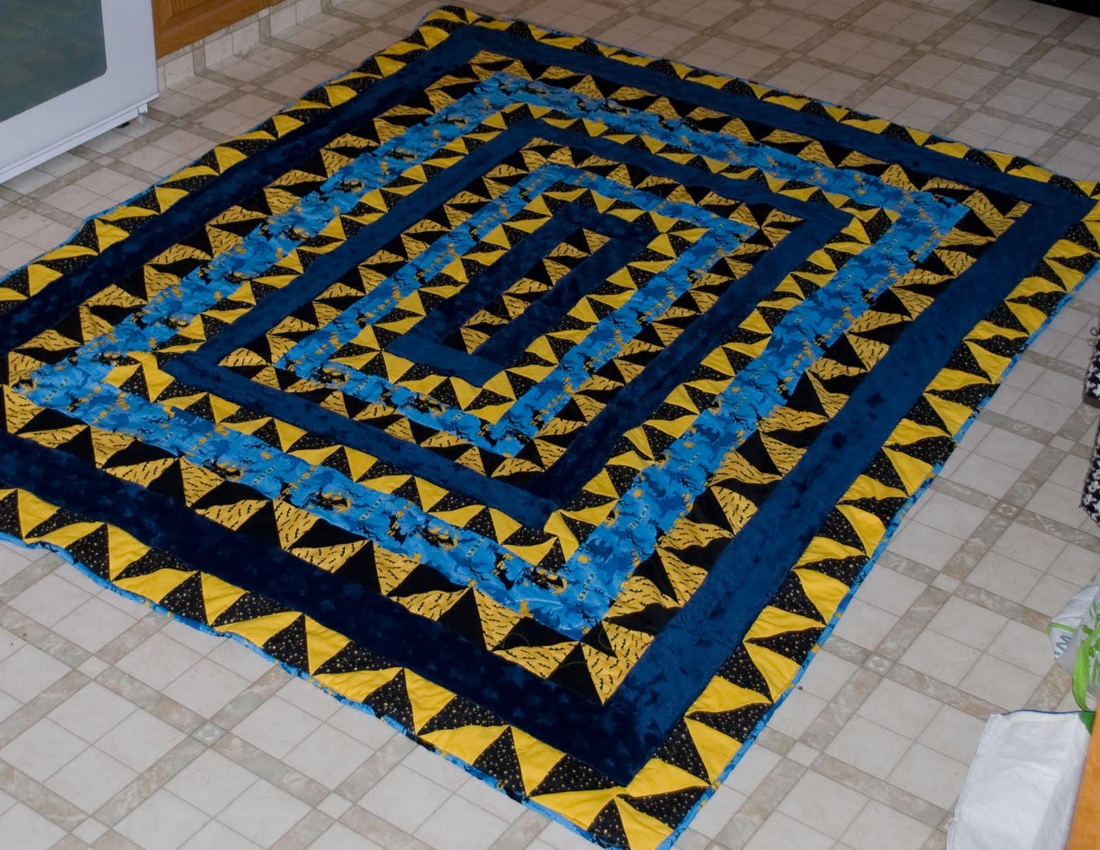 Nicole's Creations: Finished Batman Quilt : batman quilt pattern - Adamdwight.com