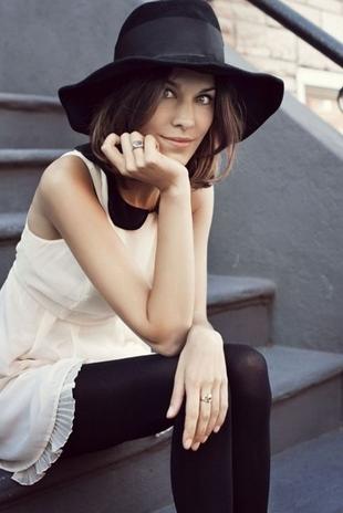 Alexa Chung | Style Icon | Peter Pan Collar | blog.sassyshortcake.com