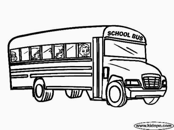 school bus coloring page pdf