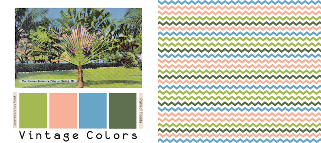 vintage color palette chevron print on colourlovers