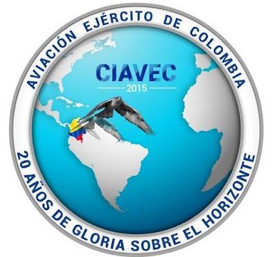 Logo oficial de la Conferencia Internacional de Aviación de los Ejércitos CIAVEC 2015.
