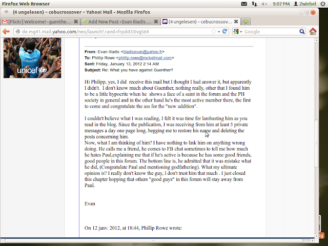 Screenshot of Mr. Iliadis Email admitting that he does not know me and the Allegations are made up