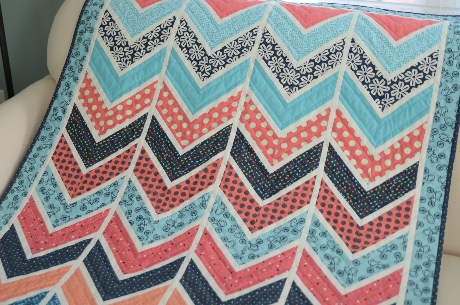 Hyacinth Quilt Designs: Chevron - Part 1