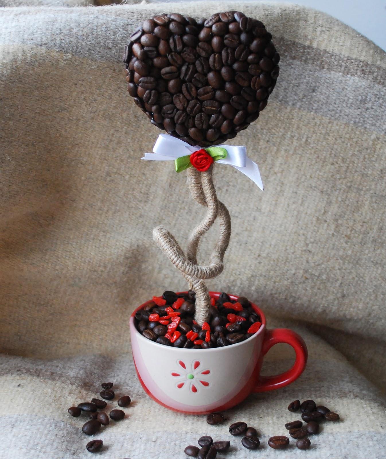 Как сделать кофейный топиарий в домашних условиях