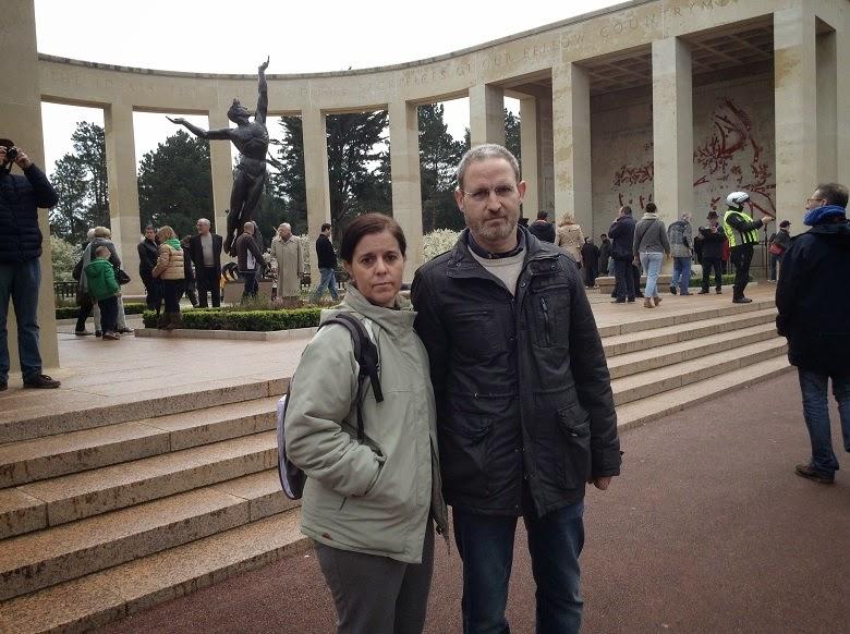 Entrada cementerio Normandia