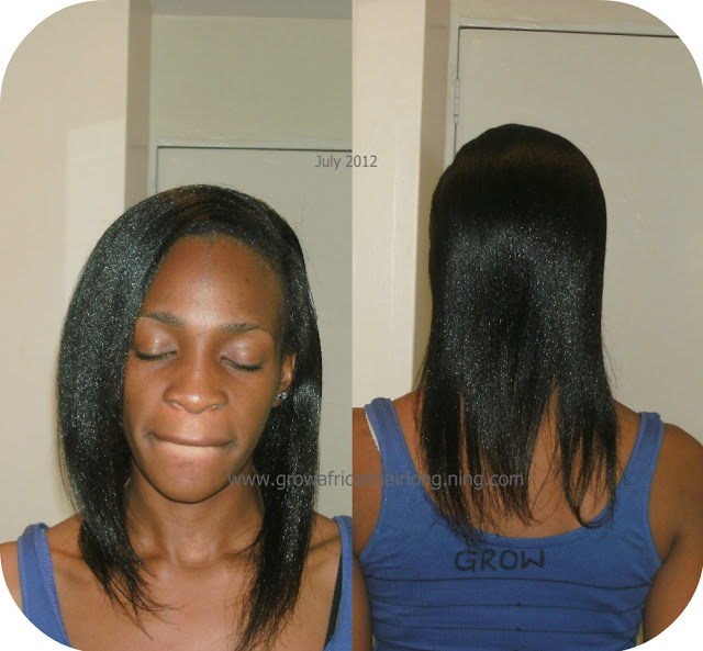how to grow and healthy relaxed hair