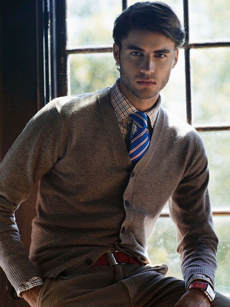 Torontothree men 39 s fall fashion 2012 for Sweater over shirt men