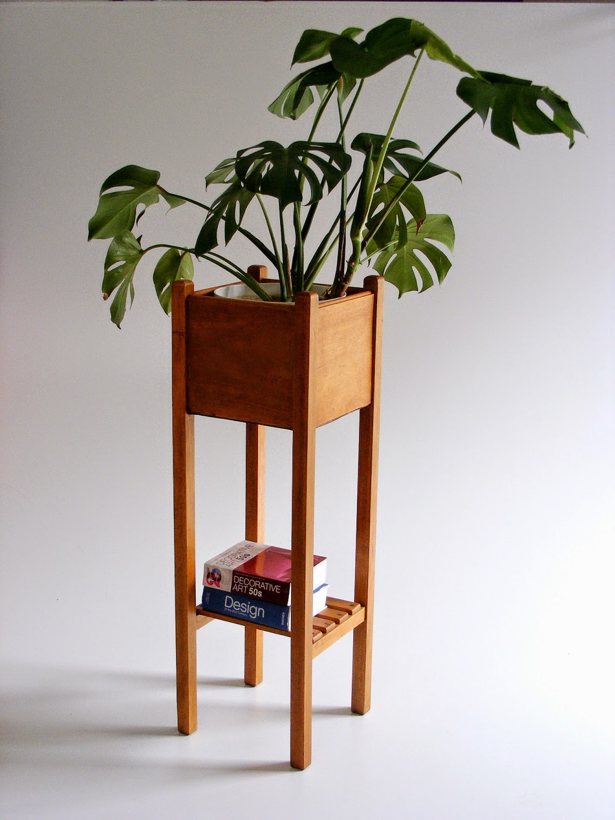 Amazing photo of Vintage wooden pot plant stand with #702C10 color and 1200x1600 pixels