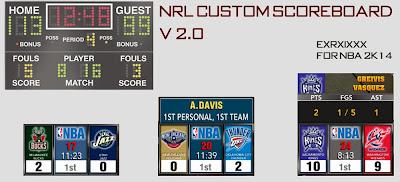 NBA 2K14 Custom Scoreboard Style Mod