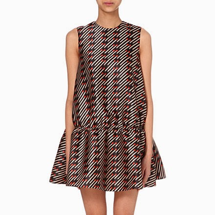 Stella McCartney Matchstick Print Babydoll Dress Resort 2014 collection